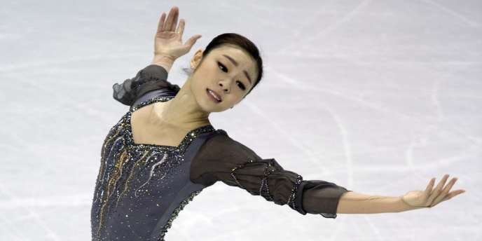 Kim Yu-na, le 16 mars à London (Canada).