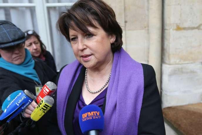 Martine Aubry, maire PS de Lille, le 27 février.