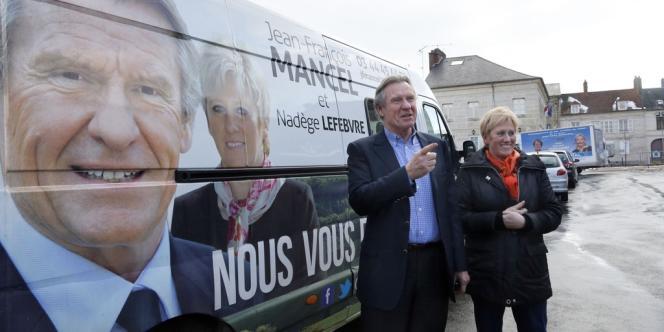 Jean-François Mancel en campagne, le 14 mars.