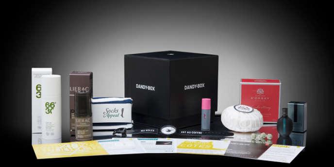 En souscrivant à la DandyBox, un client reçoit pour 25 euros un colis tous les deux mois.