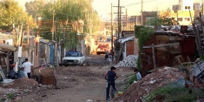 Le bidonville de Villa 21, près de Buenos Aires, en 2005.