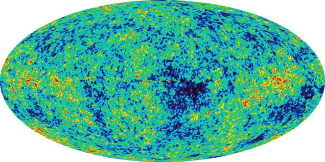 Image de l'Univers 380 000 ans après le Big Bang, prise par la sonde Wilkinson Microwave Anisotropy Probe en 2003.