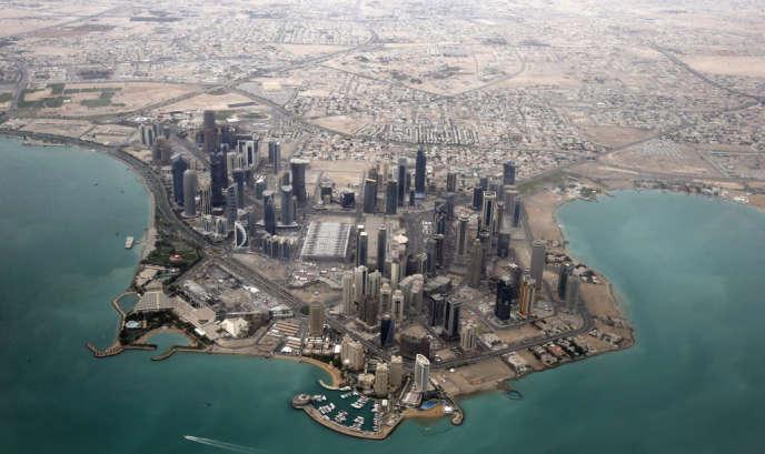 Vue aérienne de Doha, la capitale qatarie, le 21 mars 2013.