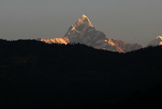 Le sommet de l'Annapurna, photographié en 2010.