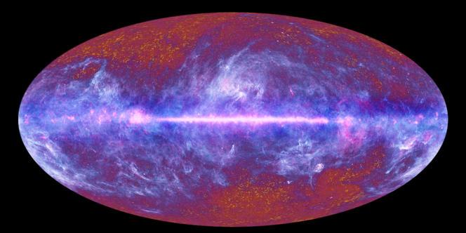 Image du rayonnement primordial de l'Univers prise par le satellite européen Planck.