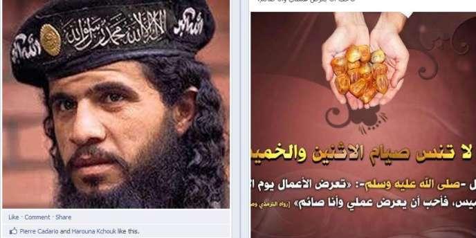 Le pirate a remplacé sur la page les photos des différentes actions seins nus des Femen à travers le monde par des vidéos de sourates du coran, d'images illustrant la profession de foi l'islam.