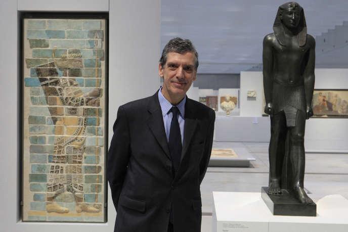Le directeur du Louvre, Henri Loyrette, lors de l'inauguration du Louvre-Lens, le 3 décembre 2013.
