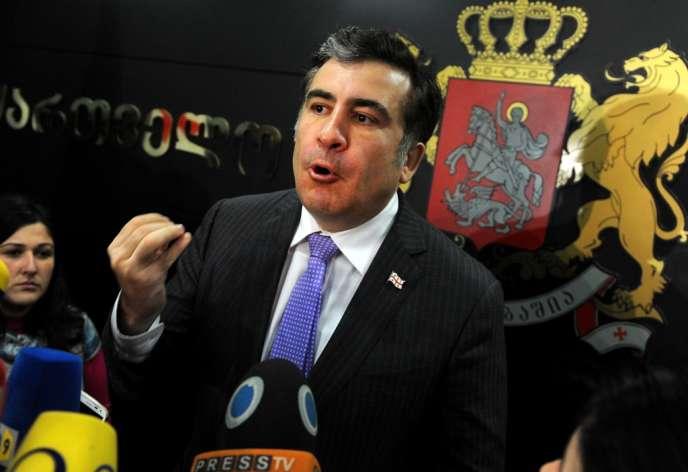 Mikheïl Saakachvili, le 4 mars à Tbilissi.