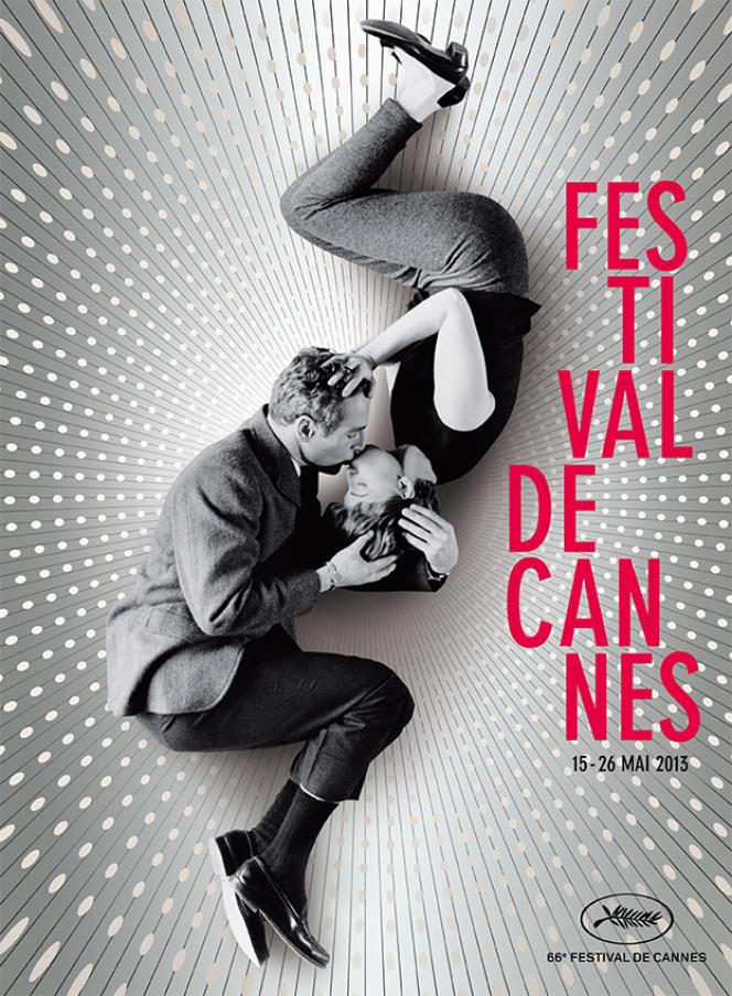 L'affiche du 66e Festival du film de Cannes, du 15 au 26 mai 2013. Avec en photo : Paul Newman et Joanne Woodward.
