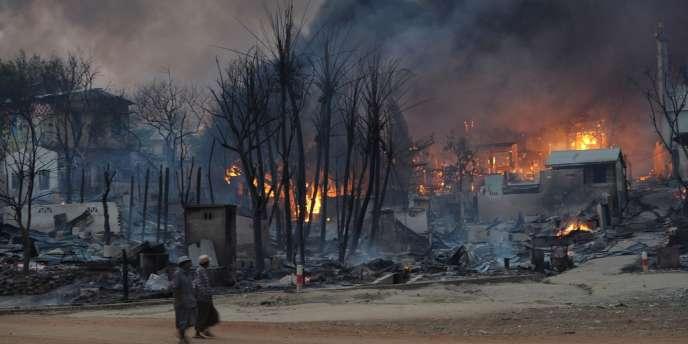 Des quartiers entiers de la ville et plusieurs mosquées sont partis en flammes à Meiktila, ville du centre de la Birmanie.