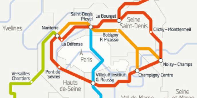 Quatre nouvelles lignes doivent être créées et les lignes 11 et 14 du métro parisien seront étendues d'ici à 2030. Les travaux du Grand Paris Express débuteront en 2015.