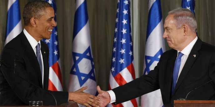 Le président américain et le premier ministre israélien, Benyamin Nétanyahou, à Jérusalem, le 20 mars.