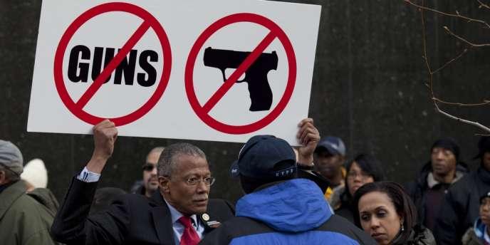 Manifestations en opposition aux armes à feu, à New-York, le 21 mars.