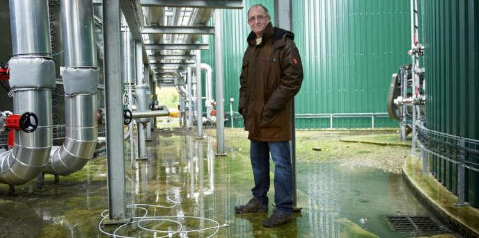 Denis Dessaudes, l'un des artisans de l'usine de méthanisation Geotexia de lisier et de déchets agroalimentaires de Saint-Gilles-du-Mené (Côtes-d'Armor).