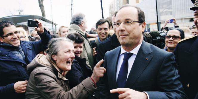 François  Hollande en visite officielle à Dijon, le 11 mars.