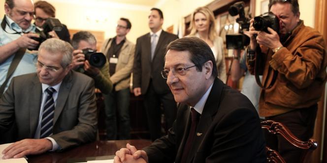 Le président Nicos Anastasiades, le 20 mars 2013.