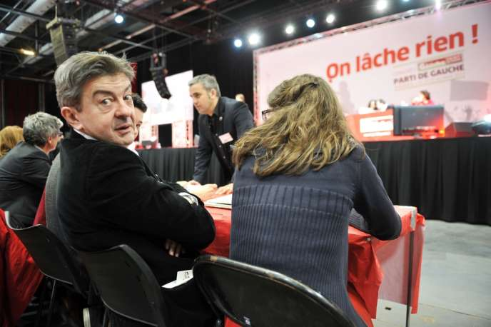 Jean-Luc Mélenchon, au troisième congrès du Parti de gauche, à Bordeaux, le 23 mars.