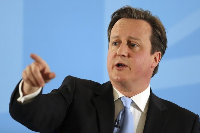 Le premier ministre britannique, David Cameron, le 25 mars à Ipswich.