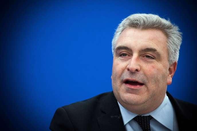 Le secrétaire d'Etat chargé des transports Frédéric Cuvillier, enfévrier2013.