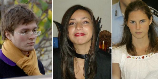 Raffaele Sollecito, Meredith Kercher et Amanda Knox.