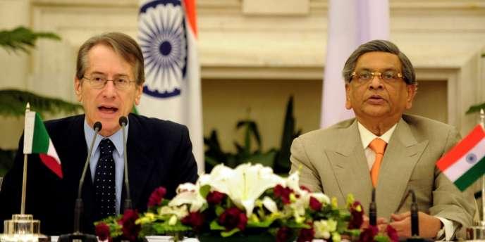 Giulio Terzi s'était rendu à New Delhi le 28 février pour tenter de trouver un terrain d'entente avec son homologue indien, Somanahalli Mallaiah Krishna.