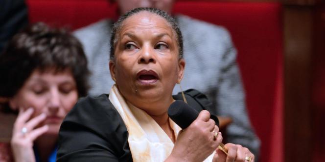 La ministre de la justice, Christiane Taubira, à l'Assemblée nationale, le 26 avril 2013