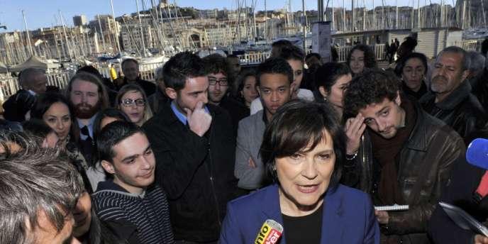 La ministre Mare-Arlette Carlotti (PS) a annoncé sa candidature à la mairie de Marseille le 21 mars. Une primaire socialiste sera organisée dans la cité phocéenne en octobre.