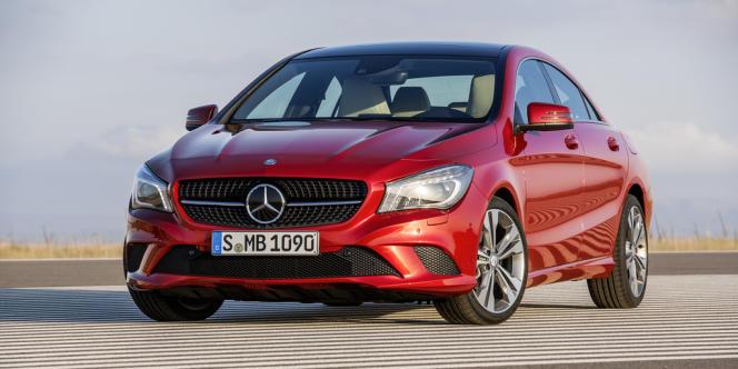 La nouvelle Mercedes CLA, un des modèles dotés du fluide de refroidissement de la climatisation R134a, désormais interdit.