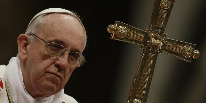 Le pape François, le 28 mars à la basilique Saint-Pierre, au Vatican.
