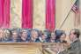 La Cour suprême des Etats-Unis lors des auditions sur la question du mariage gay, le 27 mars 2013.