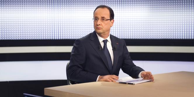 François Hollande sur le plateau de France 2, le 28 mars.