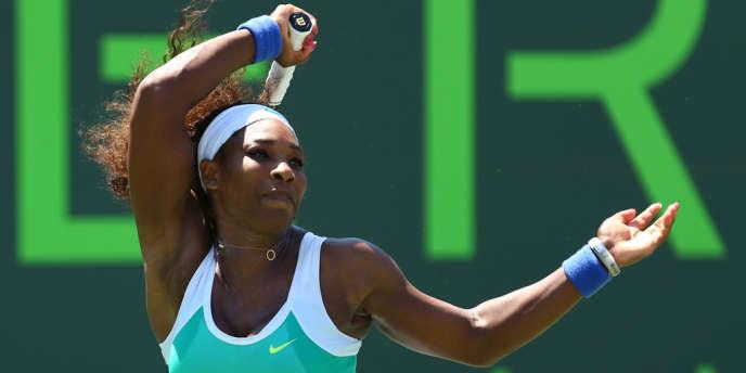 Serena Williams, en finale du tournoi de Key Biscayne (Floride) face à Maria Sharapova.