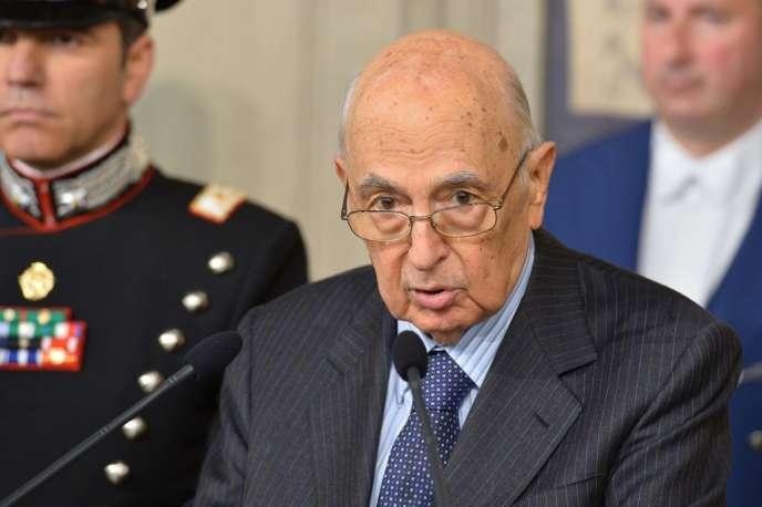 Le président italien, Giorgio Napolitano, au palais du Quirinal à Rome, le 30 mars.