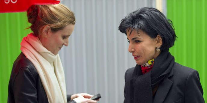 Nathalie Kosciusko-Morizet et Rachida Dati, lors de la campagne présidentielle de Nicolas Sarkozy, le 23 février 2012.