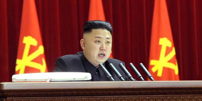 Le leader nord-coréen Kim Jong-Un fin mars 2013.