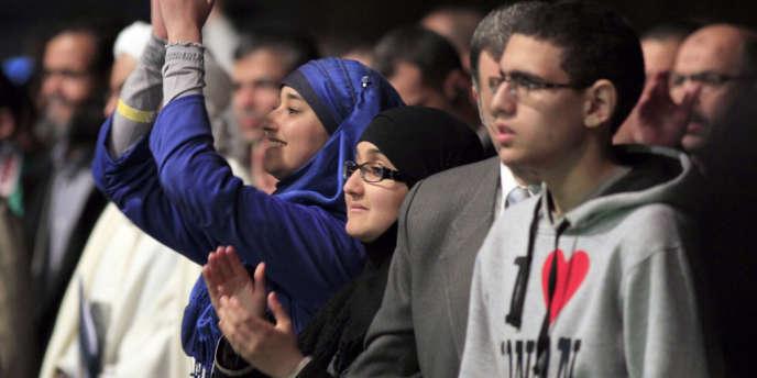Lors de la 29e réunion de l'Union des organisations islamiques de France (UOIF), en avril 2012.