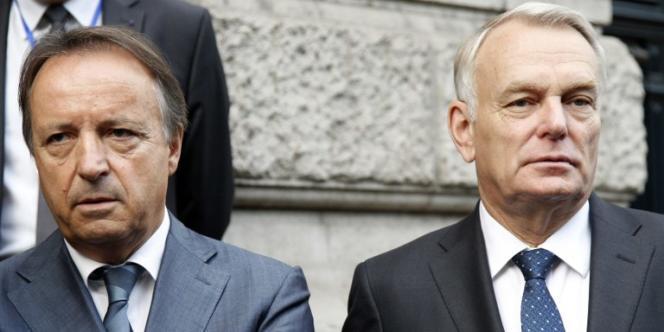 Le président du Sénat, Jean-Pierre Bel, et le premier ministre, Jean-Marc Ayrault, en octobre 2012, à Paris.