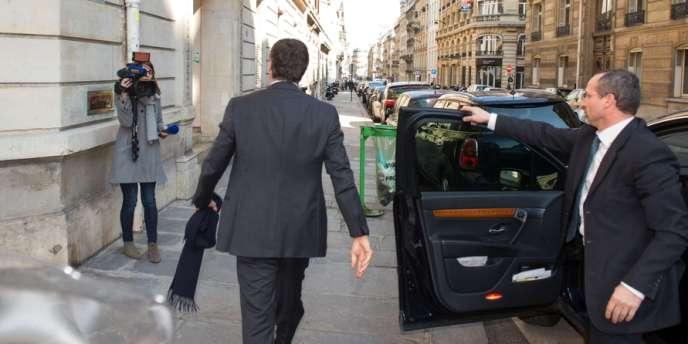 Jérôme Cahuzac à son arrivée au pôle financier de Paris, le 2 avril.