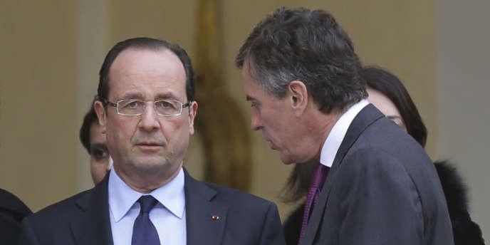 François Hollande et Jérôme Cahuzac, à l'Elysée le 4 janvier.