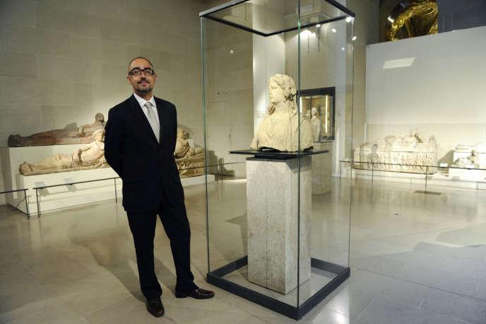 Jean-Luc Martinez, directeur du département des antiquités grecques, étrusques et romaines au Musée du Louvre, en août 2011.