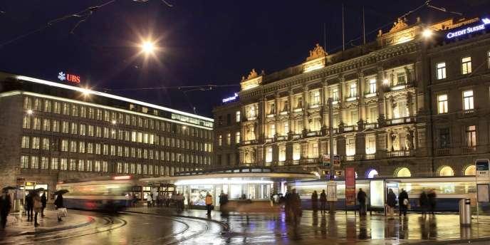 La Paradeplatz de Zürich.