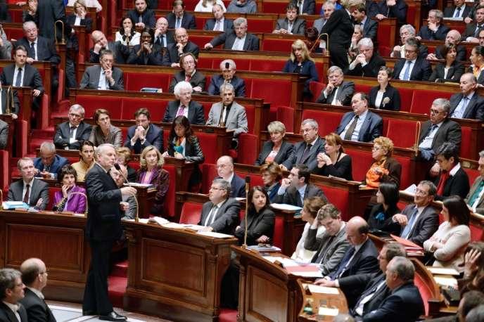 Jean-Marc Ayrault, le mercredi 3 avril à l'Assemblée nationale.