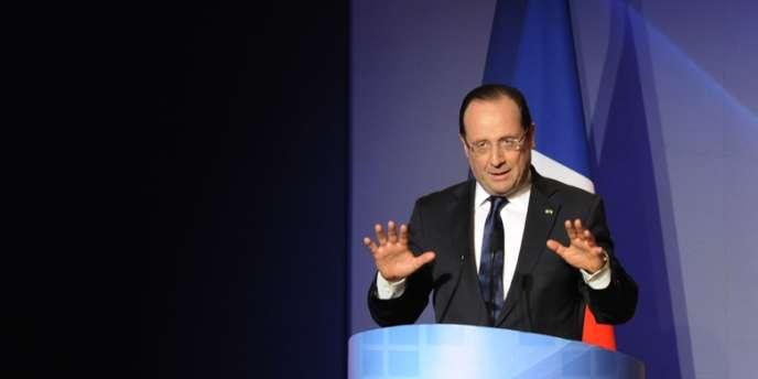 François Hollande a donné une conférence depuis Rabat, jeudi soir.