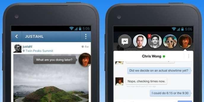 Aperçu de l'application Facebook Home pour Android. Elle sera disponible à partir du 12 avril aux Etats-Unis ; un peu plus tard dans le reste du monde.