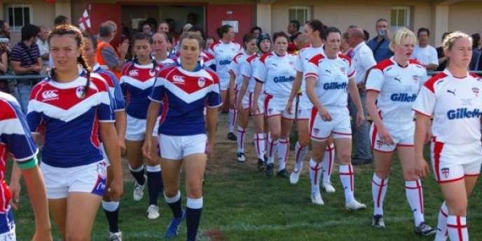 Match entre l'équipe de France féminine de rugby à XIII et l'équipe d'Angleterre.