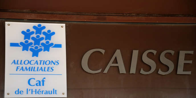 Caisse d'allocations familiales à Montpellier, enavril2013.