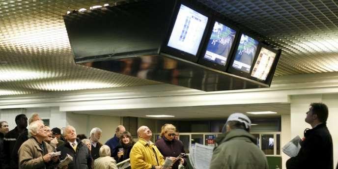 A l'hippodrome de Vincennes. En 2012, les mises globales en France ont reculé de 1%.