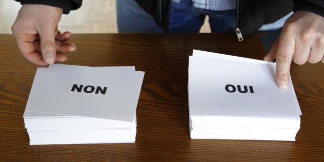 Lors du référendum en Alsace, organisé le 7 avril.