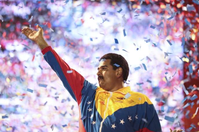Le candidat à la succession d'Hugo Chavez, Nicolas Maduro, à Caracas (Venezuela) lors de la campagne électoral, samedi 6 avril 2013.