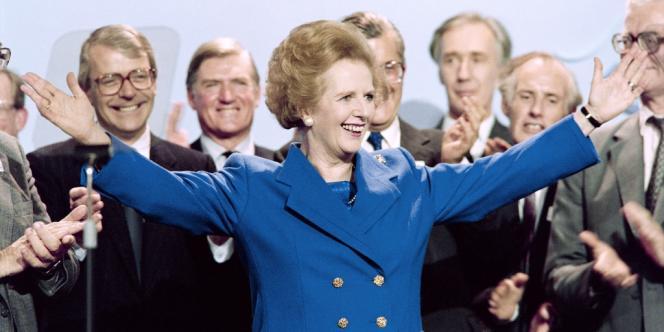 Margaret Thatcher, le 13 octobre 1989.